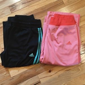 Bundle of two pairs of adidas capris with pockets